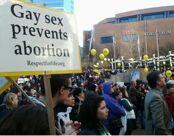 gay sex prevents abortion